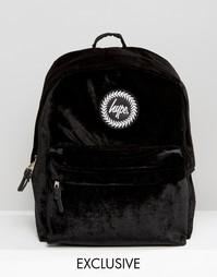 Черный бархатный рюкзак эксклюзивно для Hype - Черный