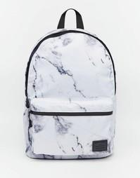 Рюкзак с мраморным принтом ASOS - Белый