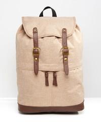 Коричневый меланжевый рюкзак ASOS - Коричневый