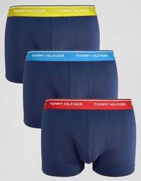 3 пары эластичных боксеров-брифов Tommy Hilfiger - Темно-синий