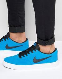 Голубые кроссовки Nike SB Check Solar 843895-401 - Синий