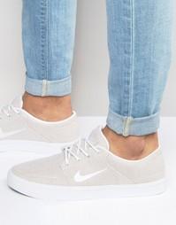 Бежевые парусиновые кроссовки Nike SB Portmore Premium 807399-101