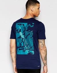 Синяя облегающая футболка Nike SB 806052-451 - Синий