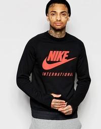 Черный свитшот с круглым вырезом Nike International 802373-010