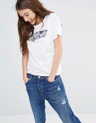 Белая футболка бойфренда с логотипом Off The Wall Vans - Белый