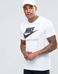 Белая футболка с логотипом Nike International 803891-100 - Белый