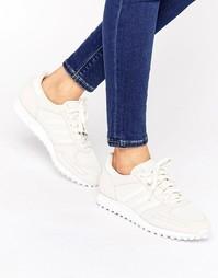 Кремово-песочные кроссовки adidas Originals La - Белый