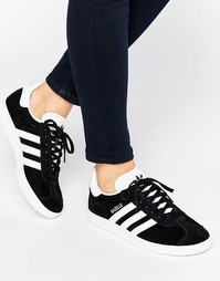 adidas Originals Black Suede Gazelle Trainers - Черный