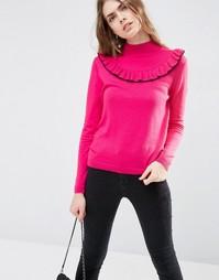 Джемпер с рюшами спереди ASOS - Розовый