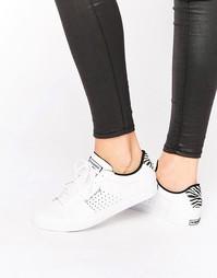 Белые кроссовки со вставками с принтом под зебру Le Coq Sportif Arthur
