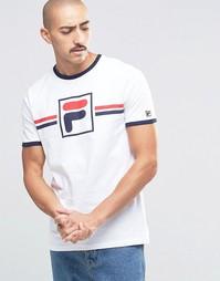 Футболка с крупным фирменным логотипом Fila Vintage - Белый
