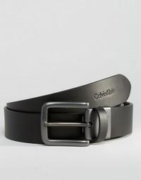 Двусторонний кожаный ремень Calvin Klein CK Bla - Черный