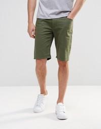 Зеленые суперзауженные джинсовые шорты ASOS - Thyme
