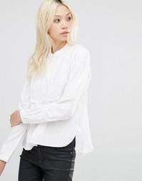 Классическая белая рубашка с закругленным краем Y.A.S - Белоснежный