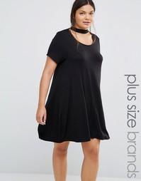 Свободное платье с горловиной‑чокером Boohoo Plus - Черный
