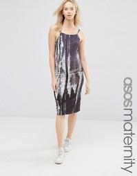 Платье миди для беременных с принтом ASOS Maternity - Мульти