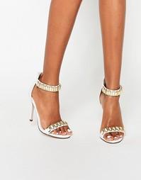 Босоножки на каблуке ASOS HOOP - Белый