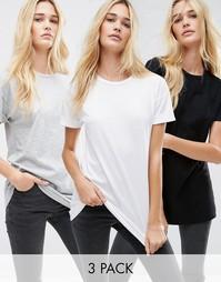 3 удлиненные футболки ASOS The Ultimate Easy - Скидка 15%