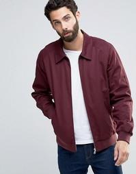 Бордовая хлопковая куртка Харрингтон ASOS - Burgundy