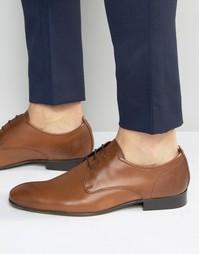 Кожаные туфли-оксфорды Base London Business - Рыжий