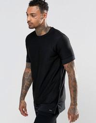 Сетчатая двухслойная футболка Diesel T-Seaweed - Черный
