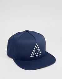 Бейсболка с треугольником HUF - Синий