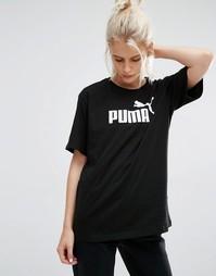 Футболка с классическим логотипом Gazelle - Черный хлопок Puma