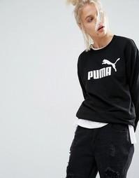 Свитшот с круглым вырезом и классическим логотипом Puma