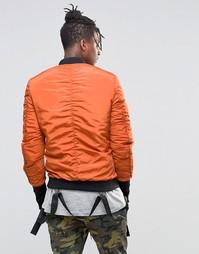 Куртка-пилот с отцепляемыми ремешками Sixth June - Красно-бурый