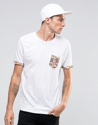 Футболка с карманом Brave Soul Pinup - Белый