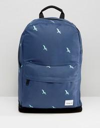 Темно-синий рюкзак с птицами Spiral - Темно-синий