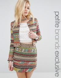 Пиджак в полоску с ацтекским принтом Glamorous Petite - Мульти