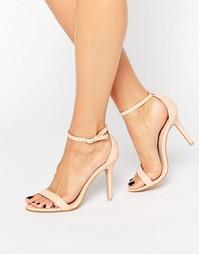 Розовые сандалии на каблуке Glamorous - Телесный