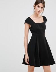 Приталенное платье мини BCBG - Черный 001