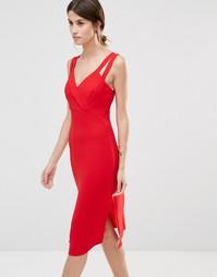 Платье-футляр BCBG Generation - Ярко-красное перо t6b
