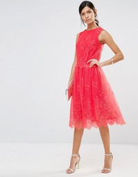 Кружевная юбка с фигурной отделкой по краю Little Mistress - Папайя