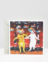 Поздравительная открытка 3D Movie Night - Мульти Gifts