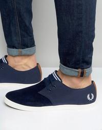 Низкие замшевые кроссовки Fred Perry Byron - Темно-синий