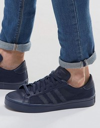 Синие кроссовки adidas Originals Court Vantage S76202 - Синий
