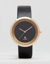 Черные часы в золотистой оправе ASOS - Черный