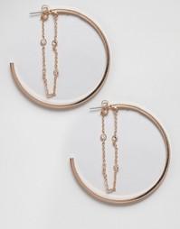 Серьги-кольца ALDO Formeniga - Золотой