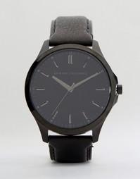 Часы с черным кожаным ремешком Armani Exchange AX2148 - Черный