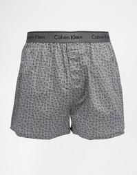 Классические тканые боксеры Calvin Klein - Серый