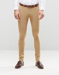 Супероблегающие брюки ASOS - Кэмел
