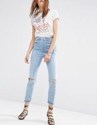Узкие рваные джинсы в винтажном стиле с завышенной талией ASOS FARLEIG