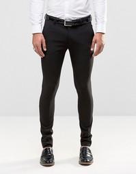 Черные супероблегающие брюки ASOS - Черный