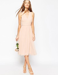 Платье миди ASOS WEDDING Hollywood - Blush