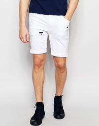 Рваные супероблегающие джинсовые шорты ASOS - Белый