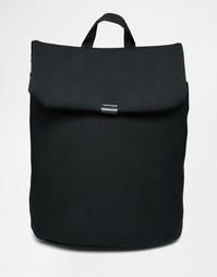 Рюкзак с откидным клапаном ASOS Scuba - Черный