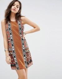 Цельнокройное платье с ацтекским принтом Only - Ацтекский принт